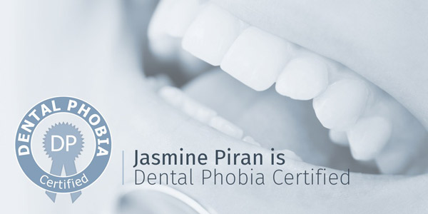 Dr Jasmine Piran - Dental Phobia Certified